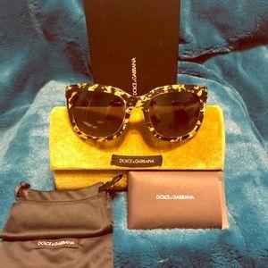 Dolce & Gabbana 4197 Sunglasses Gold Leaf on Black